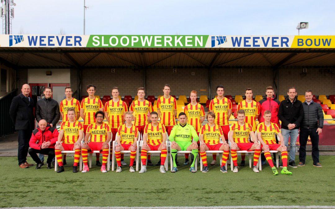 WEEVER en Go-Ahead Kampen presenteren nieuwe shirts voor JO19 en JO17