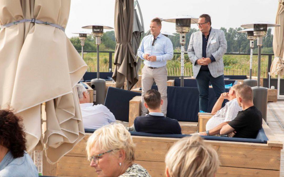 Gezellige gezamenlijke netwerkbijeenkomst BC IJsseldelta en BC de Wetering bij Paviljoen Hanzezicht